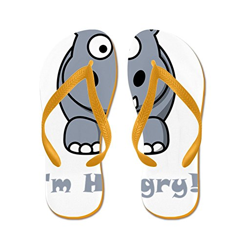 22280c28548fcd CafePress - Hungry Hippo Grey - Flip Flops