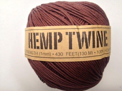 UPC 858431004100, Brown Hemp Twine Cord 1mm 143yd 130m 430ft DIY