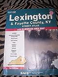 Lexington & Fayette County, KY Street Atlas with Bluegrass Area Map