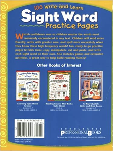 Amazon.com: 100 Write-and-Learn Sight Word Practice Pages ...