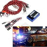 Soondar® 12 LED 4 operation modes Multi-color RC Car Flashing Light Lamp System 4.8-6.0V