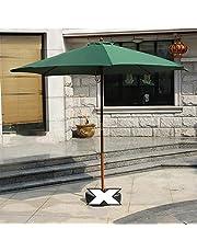 LWMQ parasol voor terras, rond, van hout, voor café, strand, achtertuin, 4 kleuren (rood)