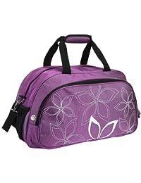 "20"" Fashionable Flowers Pattern Purple Sports Gym Tote Bag Travel Carryon"