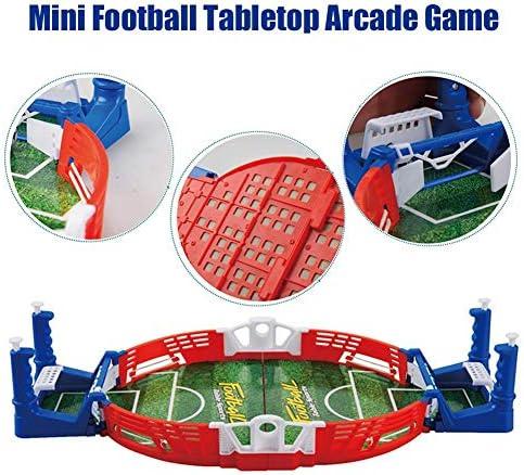 Dettelin Juego de fútbol, Mini Juego de diversión de Arcade de Mesa de fútbol, Juguete Interactivo de fútbol de Mesa para niños Adultos en la Oficina en casa: Amazon.es: Deportes y aire