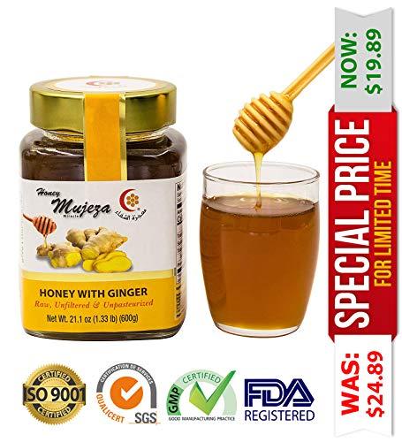 Miel con miel de jengibre sin sabores artificiales añadidos ...