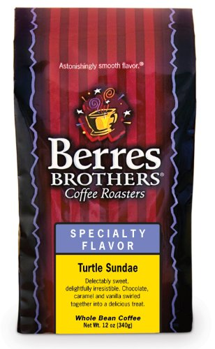 Berres Brothers - Turtle Sundae Coffee - 12 ounce whole (Caramel Turtle Whole Bean Coffee)