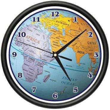 Amazon globe wall clock world map atlas geography teacher globe wall clock world map atlas geography teacher gift sciox Images