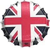 100 x Union Jack Beer Crowns 26mm