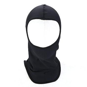 Pasamontañas cortavientos Negro Máscara Bae de tela tocado Facemask Felpato Running, Moto y Sport Invierno