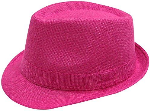 Simplicity Men / Women's Trilby Golf Fedora Hat Tro.Pink ()