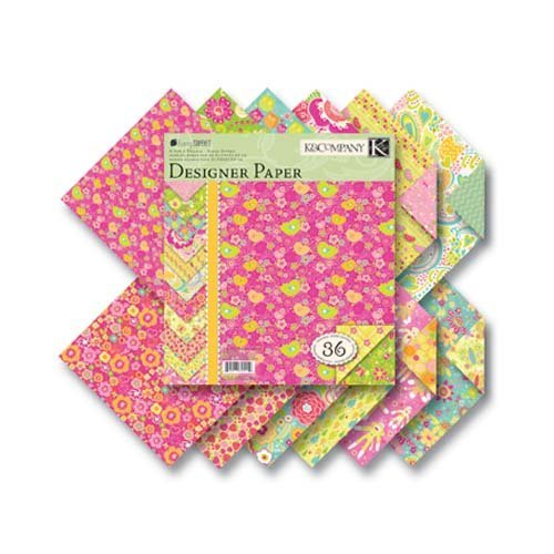 K&Company Berry Sweet Designer 8-1/2 Inch by 8-1/2 Inch Paper Pad 36/Sheets, 3 Each Of 12 Designs by K&Company