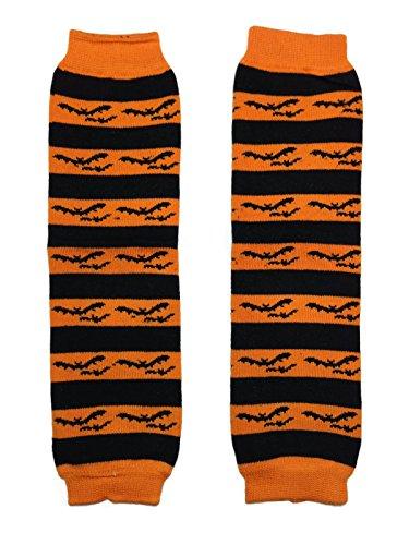 KWC - Halloween Orange Black Bats Baby Leg Warmer/ Leggings ()