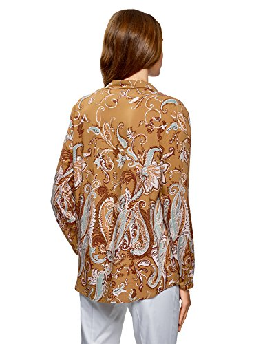 Imprime 5762e Beige Collection en Viscose oodji Femme Blouse qX7wxF0