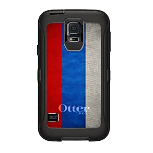 CUSTOM Black OtterBox Defender Series Case for Samsung Galaxy S5 - Russia Russian Old Flag
