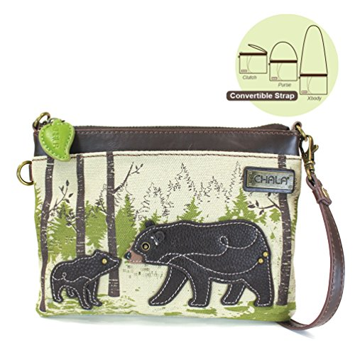 Adjustable Safari Canvas Crossbody Animal Purse Cell with Phone Strap Bear Chala TPq8gg