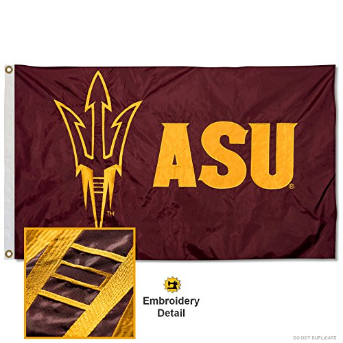 Arizona State Sun Devils Embroidered and Stitched Nylon Flag