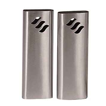 Hygra Lot de 2 Saturateurs Ovales en Inox 300 ml