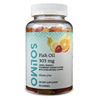 Amazon Brand - Solimo Fish Oil 303 mg, 90 Gummies (2 Gummies per Serving), EPA and...