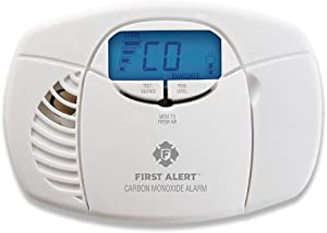 First Alert Carbon Monoxide Detector Alarm|No Outlet Required with Digital Display and Peak Memory, Battery Operated, CO410