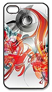 iPhone 4 4s Cases & Covers - Creative Illustration Abstract Graphics PC Custom Soft Case Cover Protector for iPhone 4 4s - Black