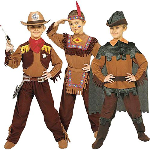 Cowboy, Indian, Peter Pan Child - Boys Medium