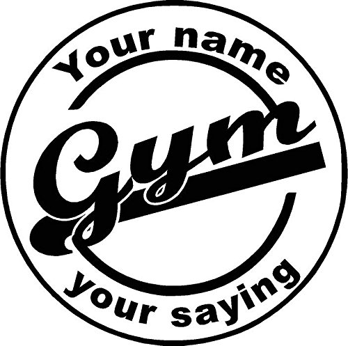 Garage gym customized vinyl wall decal fitness