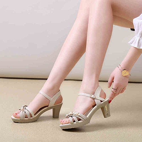 FLIP FLOPS SANDALS Simple sandals Female summer high open with toe Sandals for mom (Beige /Black/ Dark blue / Light blue) Stylish/comfortable ( Color : Light blue , Size : EU38/UK5.5/CN38 ) Beige