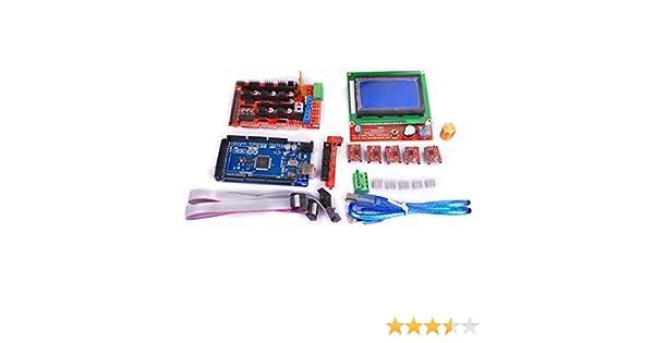 Kuman 3D controlador de impresora RAMPAS 1,4 + Mega 2560 R3 + 5 ...