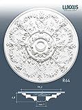 ORAC R64 Ceiling Rose Rosette Medallion Centre quality polyurethane decorative flower white   95 cm = 37 inch diameter