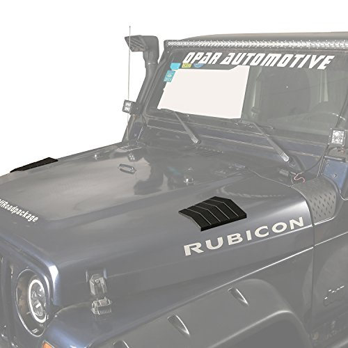 Body Armor Hood Guard - Front Hood Corner Guards Cowl Body Armors for 1997-2006 Jeep Wrangler TJ & Unlimited(Pack of 2)