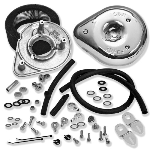 - S&S Teardrop Motorcycle Air Cleaner Kit for Harley Davidson 2008-13 Touring mod