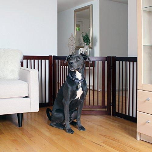 Primetime Petz 360 Configurable Dog Gate with Door - Indoor Freestanding Walk Through Wood Pet Gate