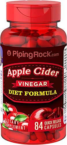 Piping Rock Apple Cider Vinegar Diet Formula 84 Quick Release Capsules Dietary Supplement ()