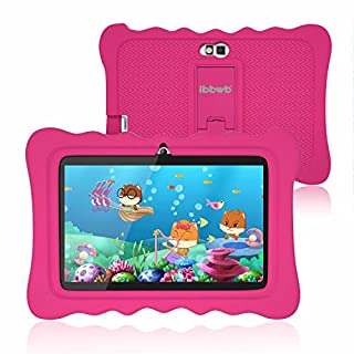 """Kids Tablet 7 inch, WiFi Android 9.0 Pie Tablet for Kids, 2GB RAM 16GB ROM, Kid Edition Tablets, Parental Control, Education Apps Pre Installed, Dual Camera, 7"""" HD Display, Kids- Proof Case, Pink"""