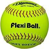 Diamond Flexi Ball Leather Practice Softballs 12 Ball Pack Yellow