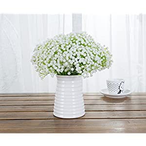 Meiliy 10pcs Plastic Artificial Baby Breath Gypsophila Flower for Home Wedding Office Party Decoration 1