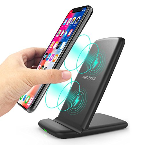 Dual Coil (Wireless Charger, Qi-Certified 10W Fast Wireless Charging [Dual Charging Coils] Wireless Charger for iPhone Xs Max Xr X 8/8 Plus, Samsung Note9/S9/S9+/S8/S8+/S7/Note 8 and All Qi-Enabled Devices)