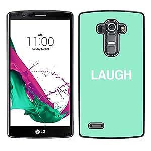 Risa Mint texto minimalista inspirada- Metal de aluminio y de plástico duro Caja del teléfono - Negro - LG G4