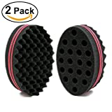 #7: NIRVANA Big Holes Barber Hair Brush Sponge Dreads Locking Twist Afro Curl Coil Wave Hair Care Tool (2 Pcs)