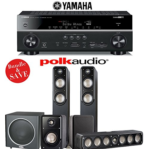 Polk audio signature s55 5 1 ch home theater speaker for Yamaha 7 2 home theatre system