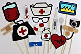 Nurse Photo Booth Props - 15 Pc Medical Photobooth Set