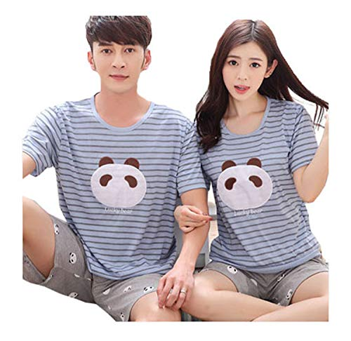 Summer Men Pyjamas Short Sleeve 100% Cotton Casual Couple Animal Pajama Set Sleepwear Suit Big Size 5XL Homewear Lingerie Pyjama Women L