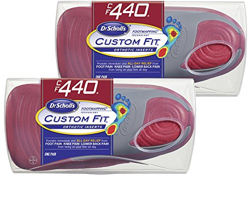 Dr. Scholl's CFO Custom Fit Orthotics CF440, 2-Pair, Visit a Custom Fit Kiosk with Advanced Footmapping Technology to Get Our Recommended Custom Fit Number For (Custom Foot Orthotics)