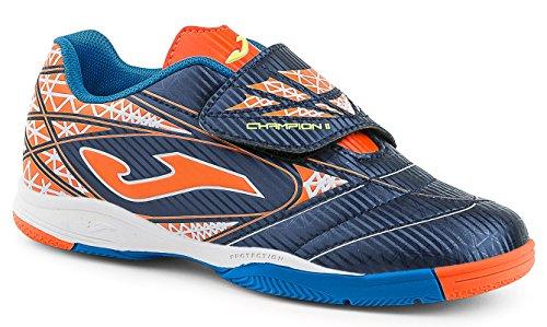 Joma - Champion Velcro, color navy / orange, talla UK-6