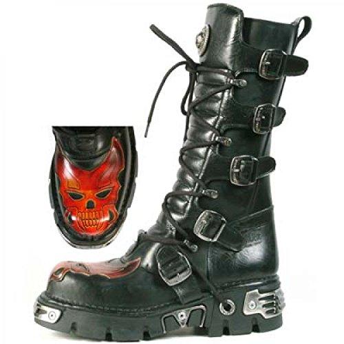 New Rock Boots M.406-c2 Gotico Hardrock Punk Unisex Stiefel Schwarz