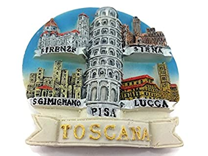 TUSCANY TOSCANA PISA LUCCA FIRENZE SIENA LEANING TOWER ITALY Resin 3d Fridge Magnet SOUVENIR TOURIST GIFT