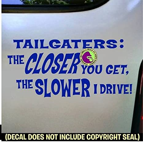 TAILGATING Vinyl Decal Sticker Tailgater Funny Tailgate Back Off Car Window Sign