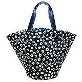 Kate Spade Saturday Flower Circle Canvas Large Beach Bag/ Tote (Navy blue) #4IRU0033