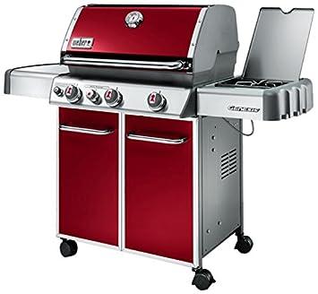 Weber 6533553 Genesis E-330 GBS barbacoa de gas 3 quemadores rojo carmesí