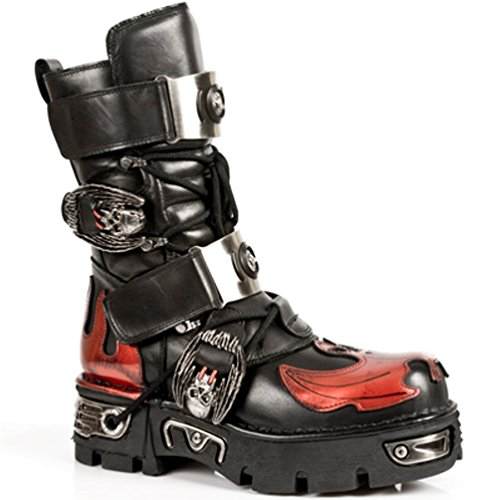 NEWROCK New Rock Stiefel Style M.195 S1 Rot Unisex Reactor